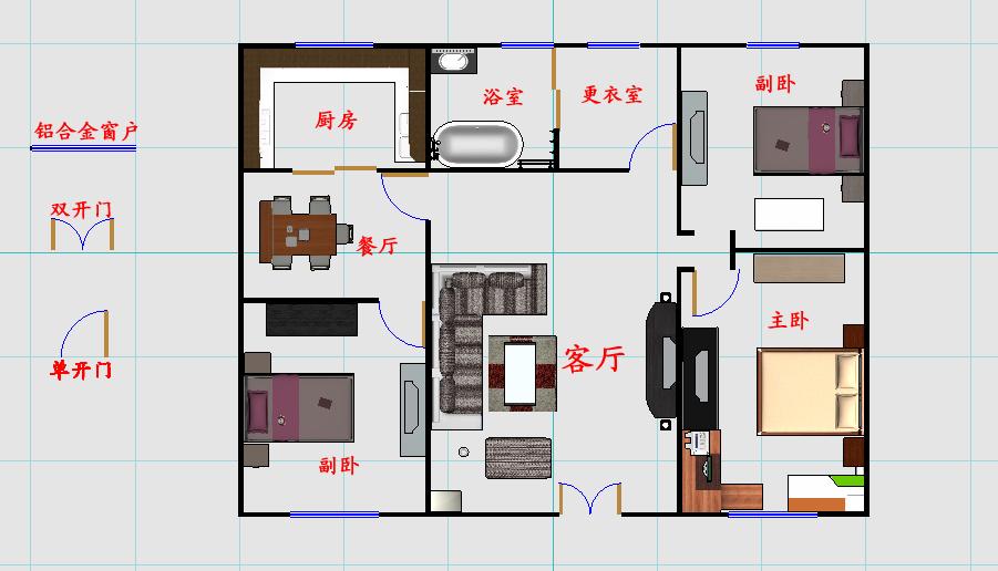 农村一层房屋设计图也和一般的设计图一样,包括一下一些具体的设计图:方案草图;平面布局图:细分一层平面图,二层平面图,三层平面图;总平面图:详细反映自建房四周情况的说明图;立面图:有正立面图,侧立面图,背立面图,还可细分立面阴影图。 农村平房屋设计图二